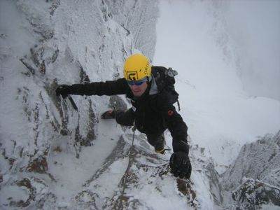オッサン、赤岳主稜を登り中!