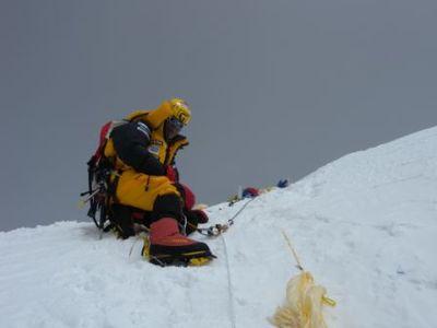 ローツェ登頂写真