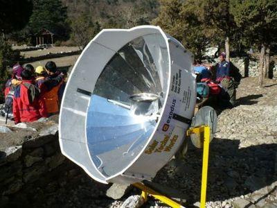 新型太陽湯沸かし器