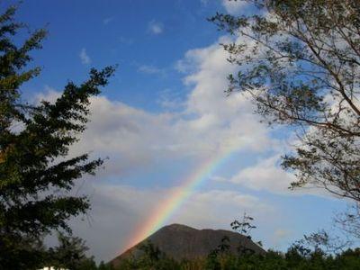 赤城山の虹