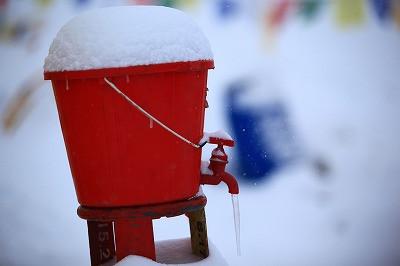 大雪警報発令!